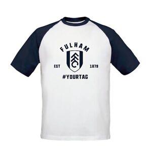 Fulham F.C - Personalised Mens T-Shirt (BASEBALL VINTAGE #)