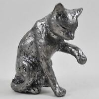 Sitting Cat Antique Silver Handcrafted Style Finish Ornament