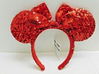 Tokyo Disney Resort Headband Minnie Mouse Spangle Red New Release 2019