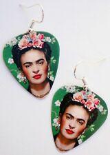 DAY OF THE DEAD FRIDA KAHLO GUITAR PICK EARRINGS! DIA DE LOS MUERTOS MEXICO ART
