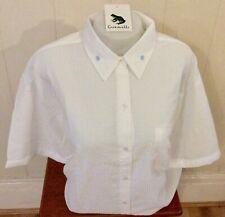 Ladies Grenouille Seersucker Cotton Short Sleeve Shirt, XL, white/flowers