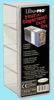 ULTRA PRO GAMING CARD BOX 4 compartment NEW 150 240 clear storage case 2 piece