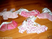 Lot 500 Pink Designer Print Paper Merchandise Price Tags With White String