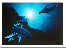 "WYLAND ""WHALE VISION"" S/N NEW GICLEE ON CANVAS W/COA"