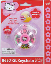 Hello Kitty mini Bead Kit Keychain Keyring Sanrio Make your own bracelet! New