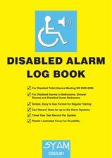 Libro de registro de alarma discapacitados-reglamento pruebas de sanitarios & Baños Syam DIS/LB1