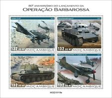 More details for mozambique 2021 mnh military stamps wwii ww2 operation barbarossa tanks 4v m/s