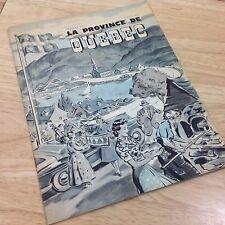 Quebec Canada Travel Guide Brochure History Tourism Souvenir 1950s Vintage