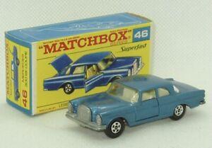 Rare Matchbox Lesney #46 Mercedes-Benz 300 SE NO CENTER SHIFT Superfast NM/ Box