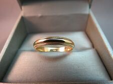 14k Yellow Mens Gold Milgrain Wedding Band Solid Artcarved 5.63g Size 11 Ring