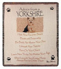 Advice From A Yorkshire Dogs Tapestry Afghan Throw Blanket