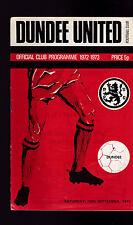 Dundee United v Dundee Football Programme September 16 1972