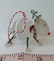Reindeer Spring legged ornament