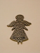Soccer Angel Pin - Pewter
