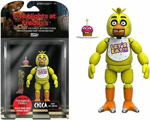 FNAF Five Nights at Freddy's Chica Articulated Figure w/ Mr.Cupcake