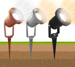 LED Garden Spike Lights Adjustable Outdoor Ground Spotlights IP65 GU10