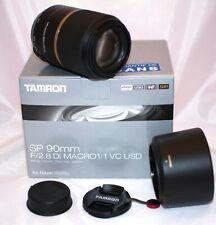 TAMRON Objectif 90mm f/2.8 Di macro 1:1 VC USD F004 monture Nikon filtre 58mm