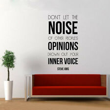 """Steve Jobs Quotes""""Don't let the noise of people...""""Vinyl Wall Sticker Home Decor"""