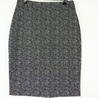 NEW Forcast Women's Size 12 Black White Work Business Corporate Pencil Skirt