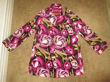MISSONI for Target PASSIONE Pink Floral Velveteen Pea Coat~ Medium (10/12) NWOT