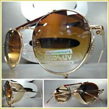Steampunk Cyber Vintage RETRO Blinder Style SUN GLASSES Round Rose Gold Frame