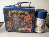 G.I. JOE Live The Adventure Lunch Box with Thermos!1986  (special missions)