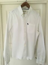 Abercrombie & Fitch Men's Collared Long Sleeve Fitted Casual Shirts & Tops