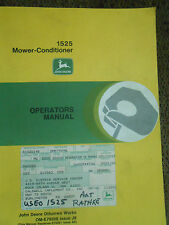 John Deere 1525 Mower-Conditioner Operator's Manual