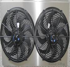 "Malibu Custom Aluminum Radiator Shroud & Dual 14"" Fans,Fits 161, CC161"