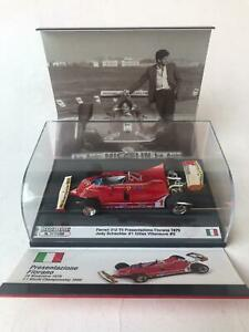Brumm Ferrari 312 T5 Scheckter Villeneuve presentazione Fiorano 1979 1/43 S1701