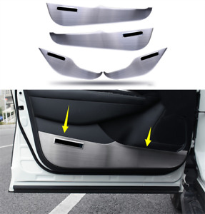 Stainless Car Door Anti Kick Pad Guard Panel Cover For Nissan Murano 2015-2019