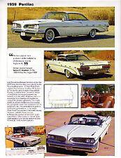1959 Pontiac Bonneville + Convertible + Catalina Article - Must See !!