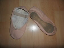 Child's Bloch Pink Leather Ballet Shoes Size 11
