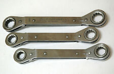 3 Offset Box End Ratcheting Wrenches Mac Cornwell 15 16 17 18 19 21mm Old Style