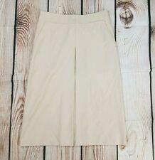 Laundry By Shelli Segal Womens Size 4 Beige Long Front Pleat Career Skirt