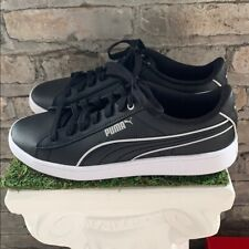 New Women's PUMA Vikky V2 Black White Leather Sneakers Athletic Shoes  Pick Size