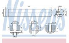 NISSENS Filtro deshidratante aire acondicionado 95522