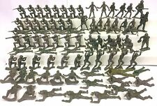 Vintage Unmarked 86 Plastic Green Army Men Toy Military Soldier Mixed Figure Lot