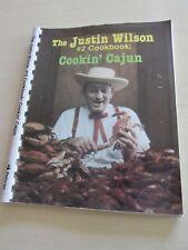 1986 THE JUSTIN WILSON #2 COOKBOOK COOKIN' CAJUN Spiralbound