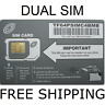 NET10 SIM CARD / FOR AT&T Unlimited Talk,Text,Web,Data ,411 NEW