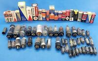 Lot of 62 Untested Vintage Vacuum Tubes: AUDIO GUITAR AMPLIFIER HAM RADIO