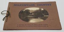 Vtg Shakespeare Country 12 Views Sepia Photogravure S/C Book Warwick England UK