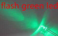 100x a0704 flash 3mm green LEDs, automatisch blinkende gruen leds