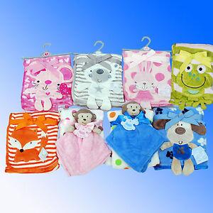 Baby Blanket Super Soft Cuddle Fleece  Comforter *Fast UK Despatch