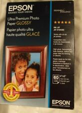 "NEW Epson Ultra-Premium Glossy Photo Paper 4"" x 6""  60 Sheets/Pack"