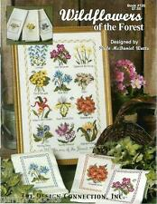 Wildflowers of the Forest Design Connection #126 Cross Stitch Pattern Towels NEW