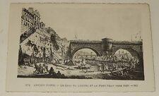 Carte Postale Ancien PARIS : Le Quai du Louvre et le Pont Neuf vers 1820