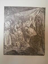 Planche gravure religions Claude Vignon l'adoration des mages