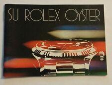 Booklet SU ROLEX OYSTER 20 - 3.81 Booklet Libretto ref. 579.24 SPANISH VERSION