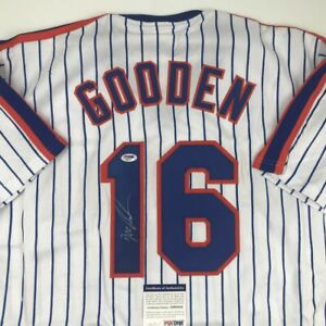 Autographed/Signed DWIGHT DOC GOODEN New York Pinstripe Jersey PSA/DNA COA Auto